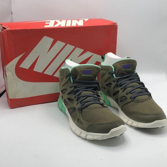 Nike Free Run 2 Mid Greenblue Size 95